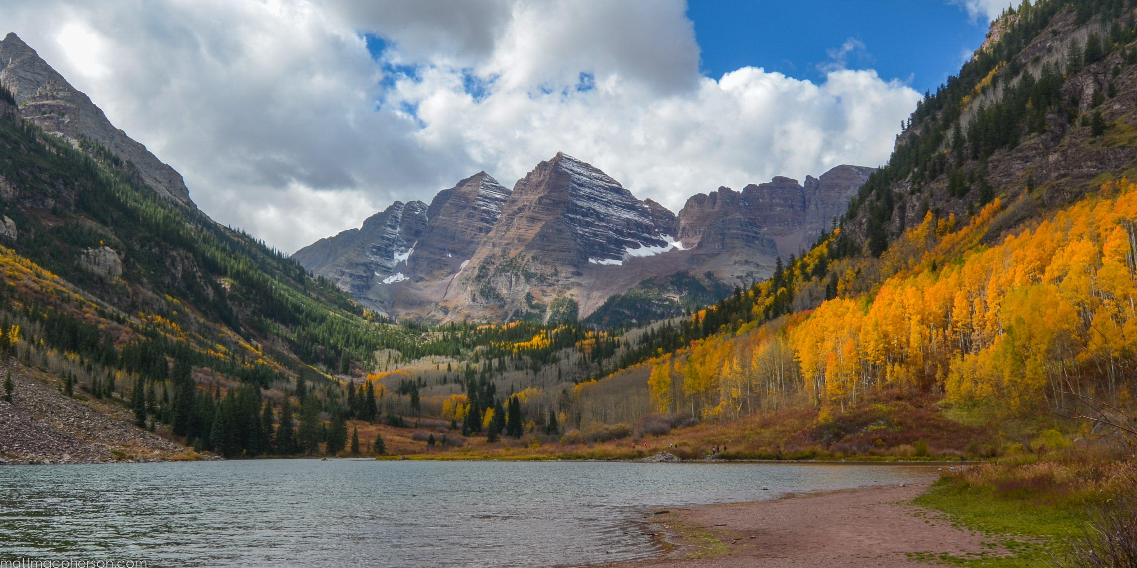 Maroon Lake in Aspen Colorado HD wallpaper 3656x1828