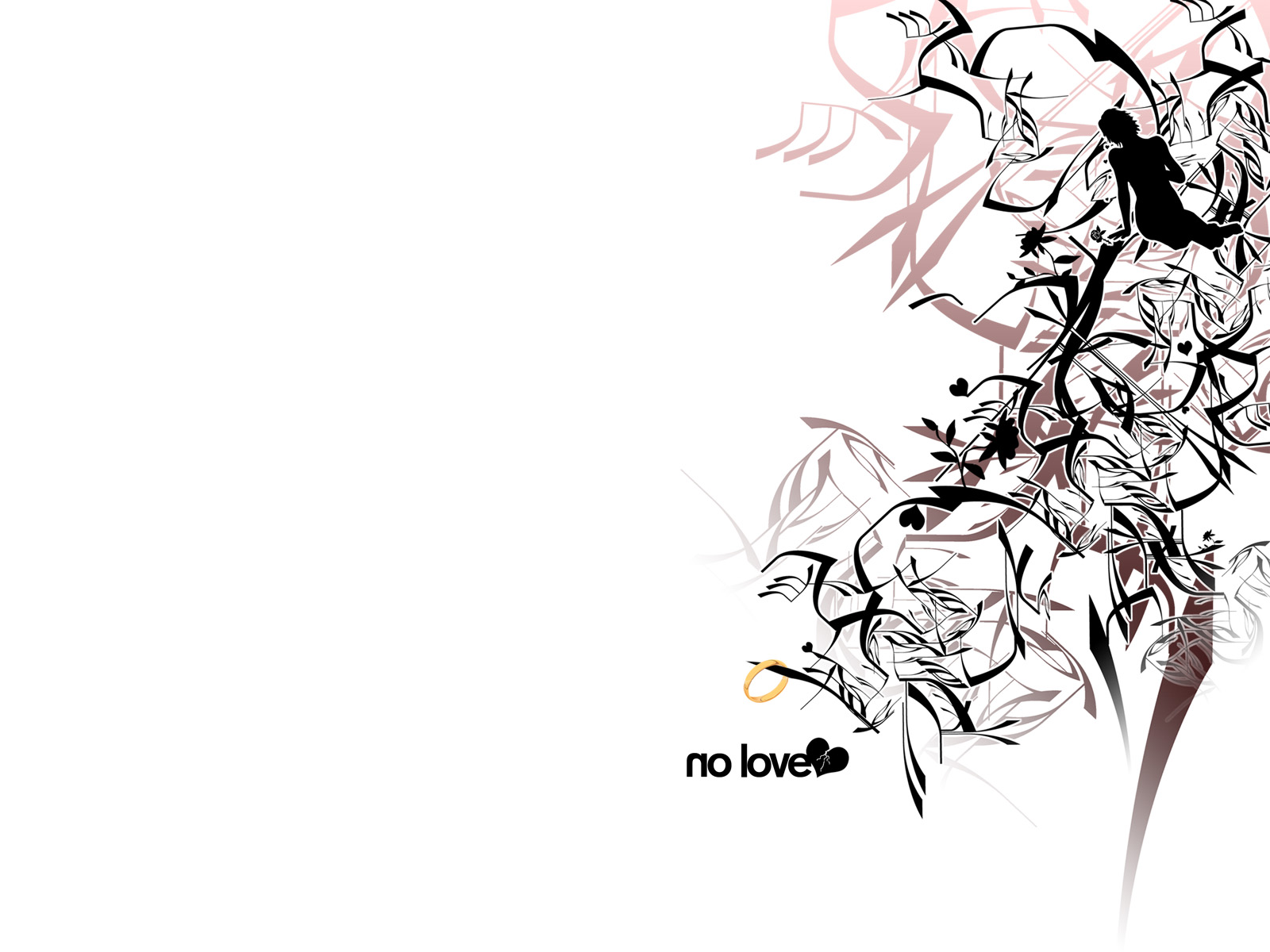No Love   Wallpaper by vhm Alex on deviantART 1600x1200