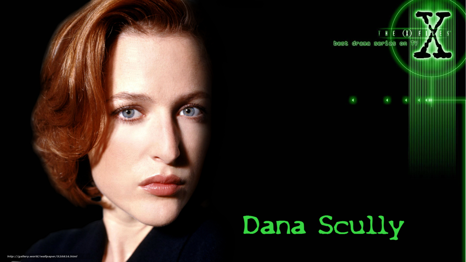 Download wallpaper The X Files the x files series Dana Scully 1600x900