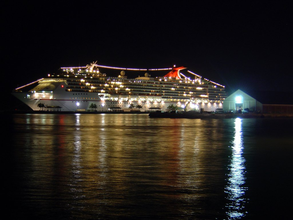 Carnival At Night Wallpaper Carnival pride cruise ship by 1024x768