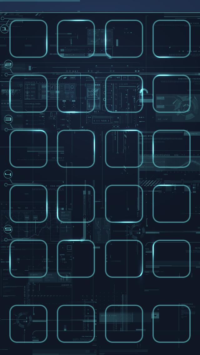 Free Download Tech Icon Dock Shelf Iphone 5 Wallpaper