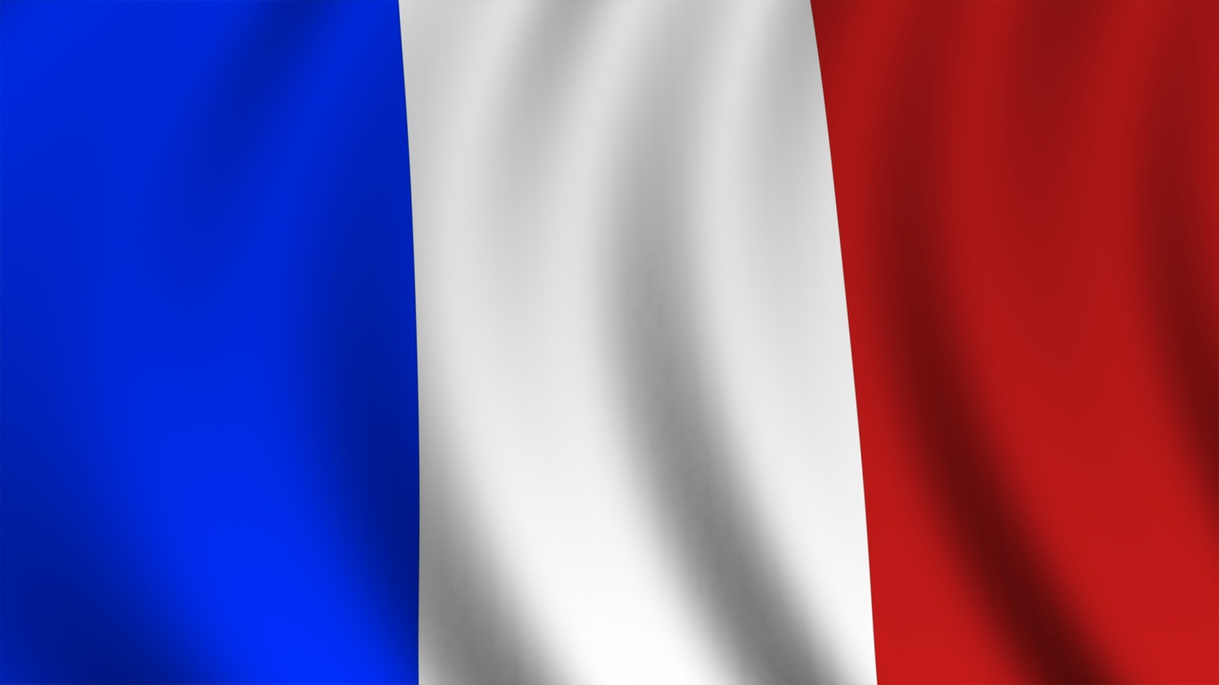 Free download France flag wallpaper in 1366x768 screen