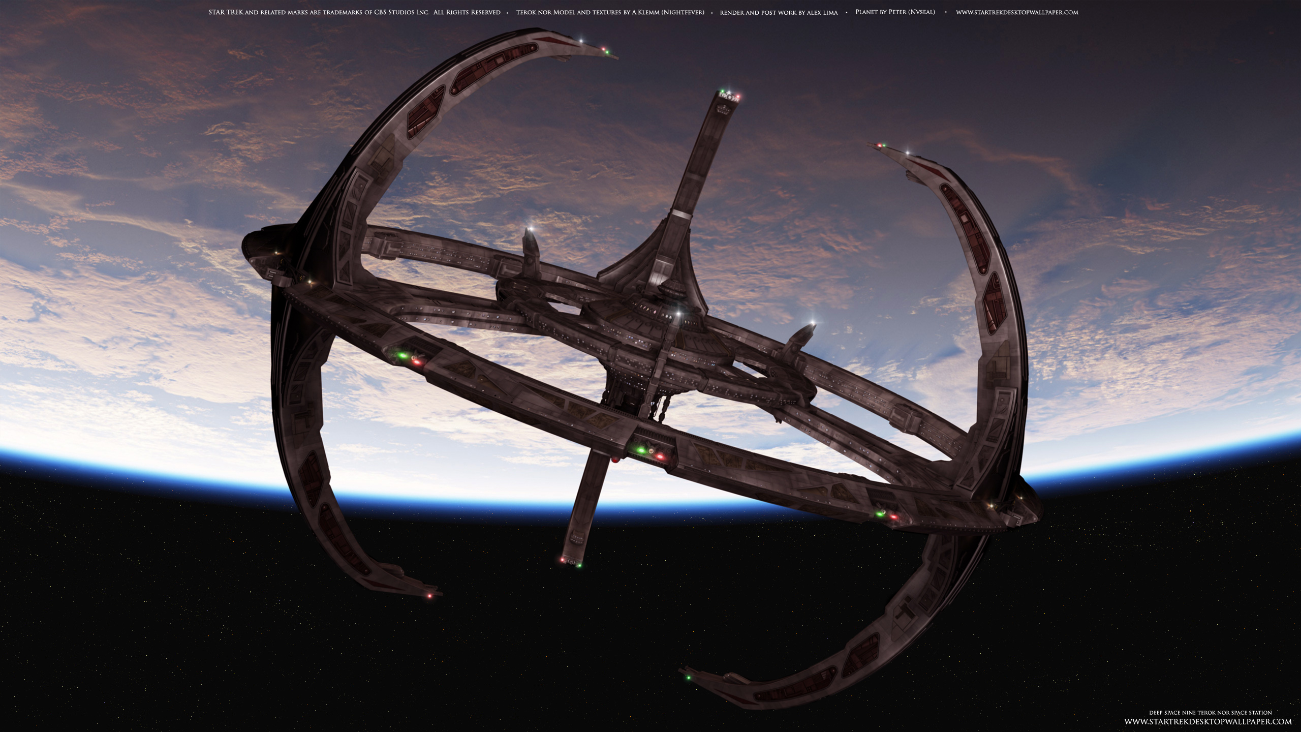 Star Trek Deep Space Nine Terok Nor Star Trek 2560x1440