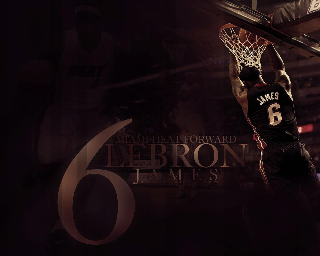 LeBron James Heat Reverse Dunk Widescreen Wallpaper Big Fan of NBA 1280x1024