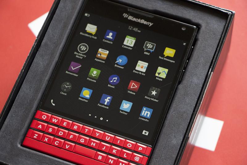 Red BlackBerry Passport unboxing CrackBerrycom 800x533