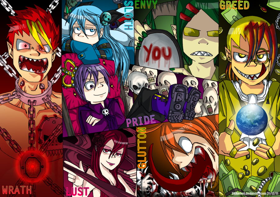 The Seven Deadly Sins by DNAfused 900x634