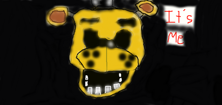 Golden Freddy Jumpscare by EndyGaming23 881x416