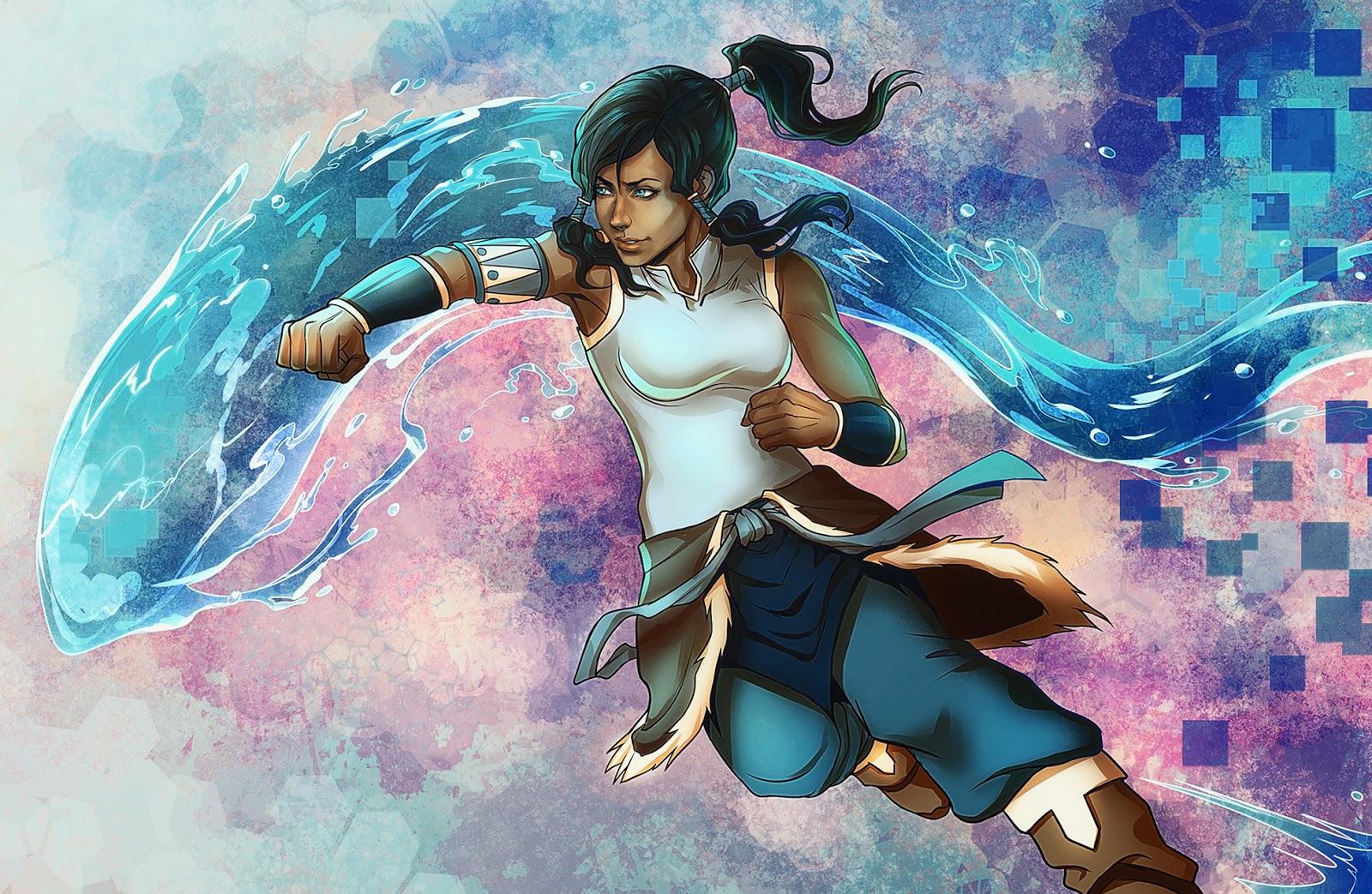 Korra Legend of Korra Waterbending Bender Girl Female HD Wallpaper 1600x1043
