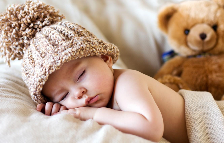 Wallpaper hat toy child baby bear bear toy bear baby cute 1332x850