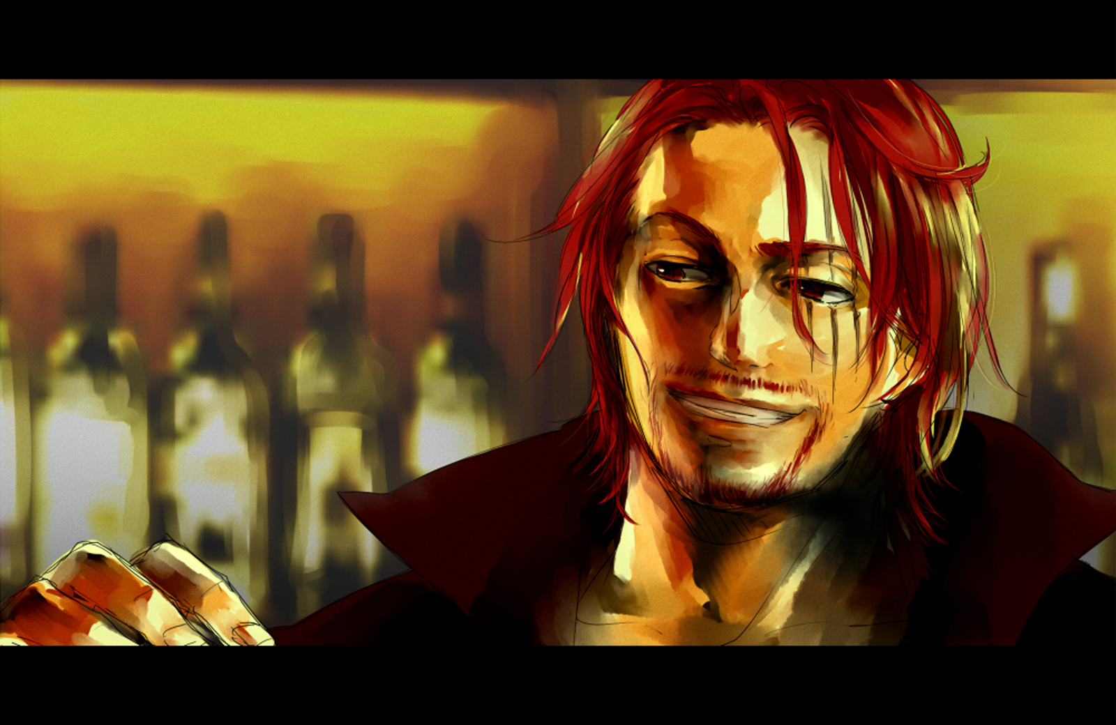 Red Haired Shanks One Piece Anime HD Wallpaper Desktop Background 1600x1040