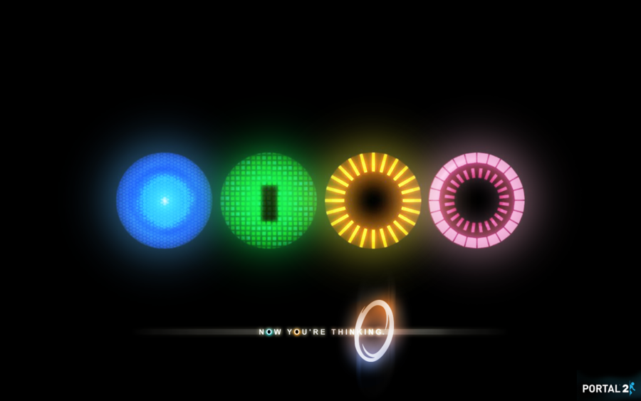 Portal 2 Cores Background by EnderGFX 900x563