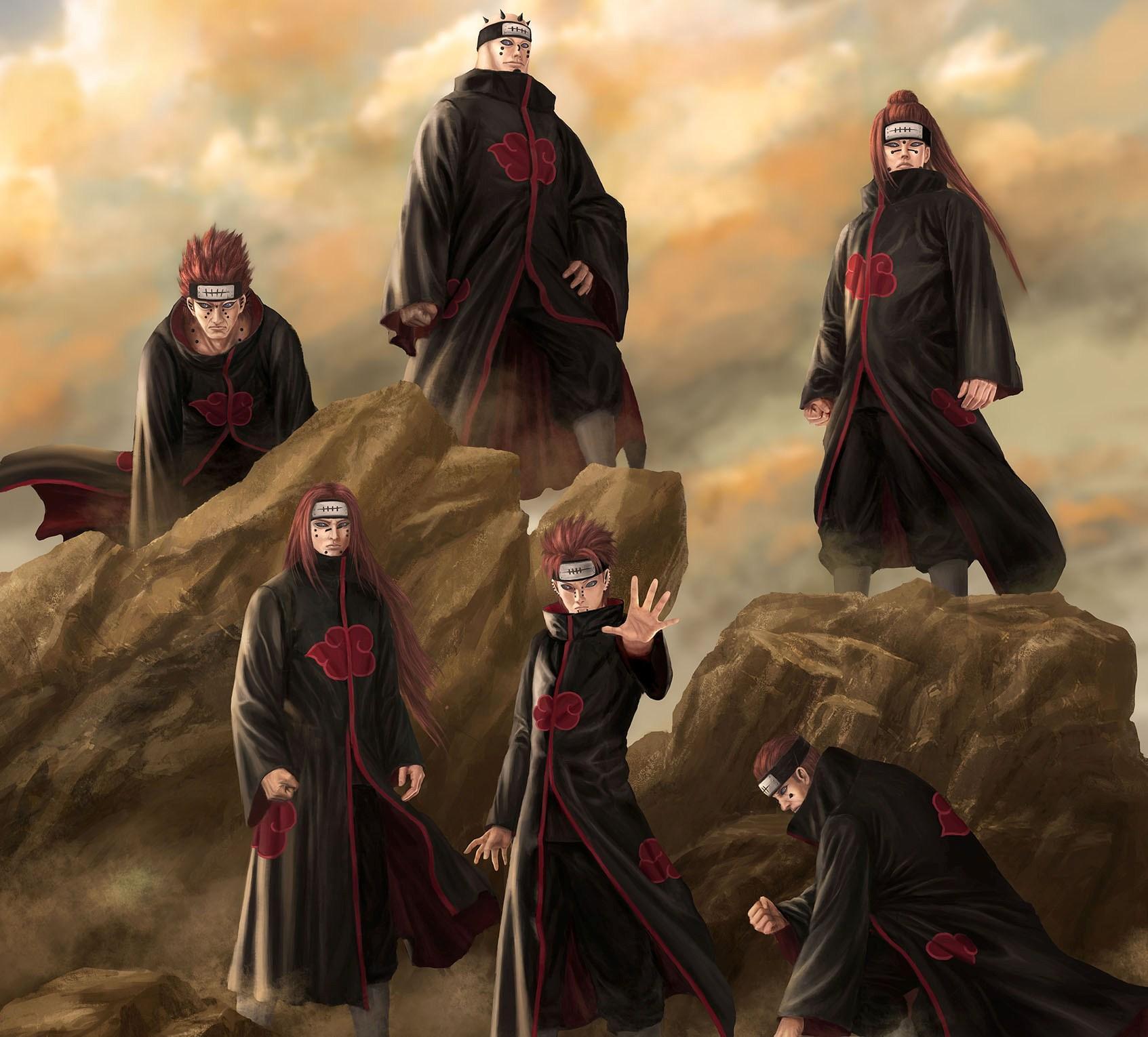 Six paths of pain naruto wallpaper 1693x1530