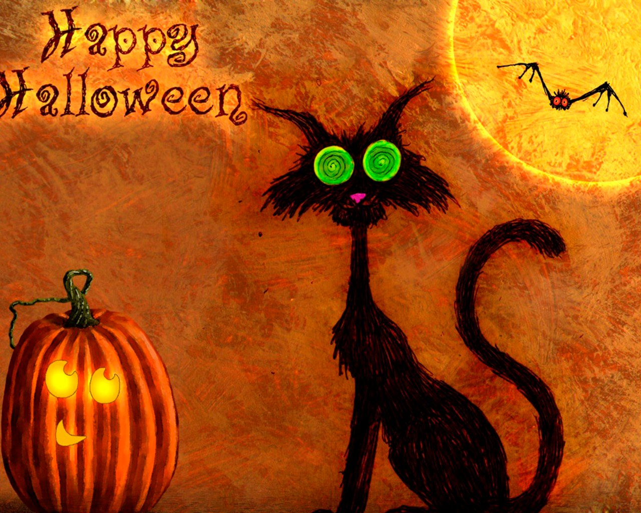 Happy Halloween 2011 Wallpaper Download Best Wallpapers 1280x1024