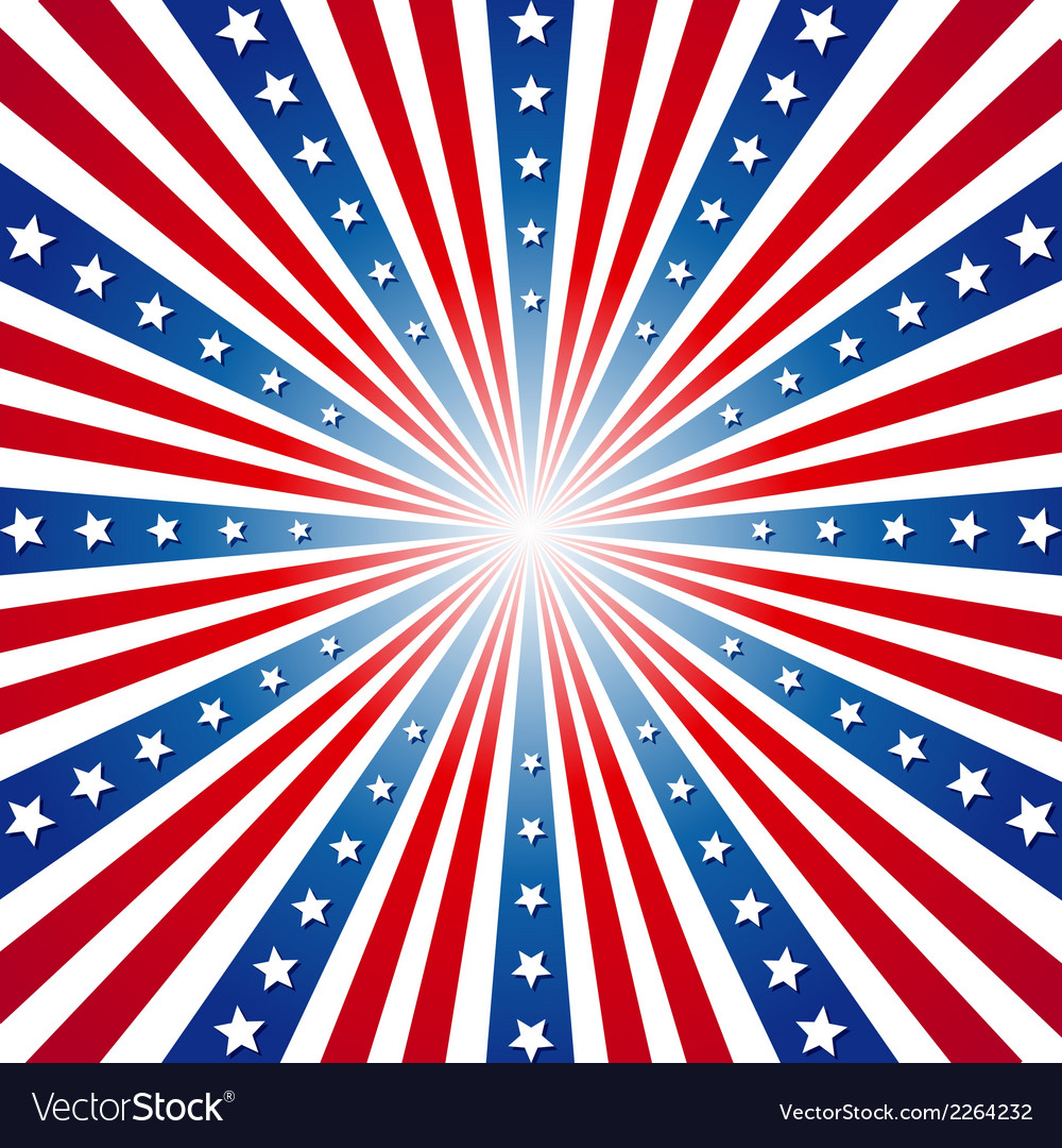 American independence day patriotic background Vector Image 1000x1080