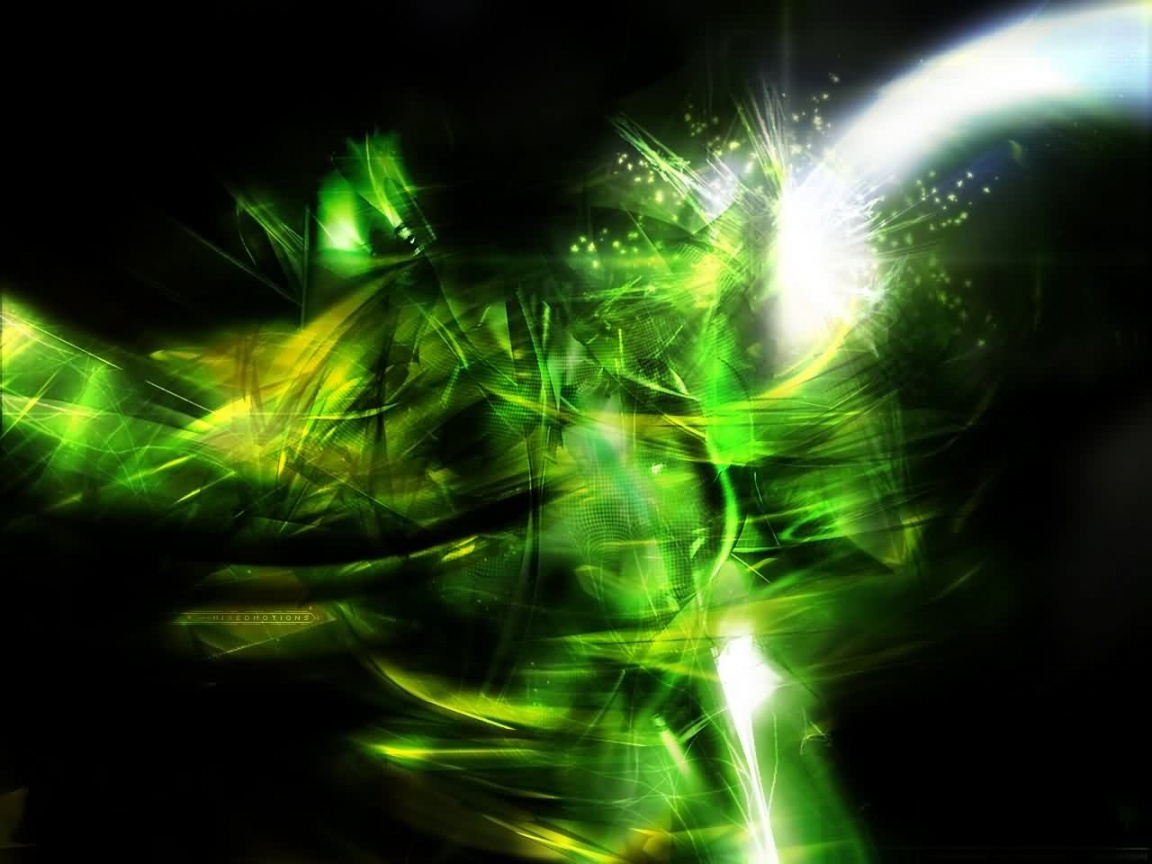 Green and Black Abstract Wallpaper - WallpaperSafari