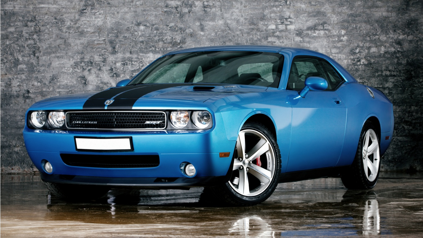 Dodge Challenger SRT Front HD Wallpapers Epic Desktop Backgrounds 1366x768