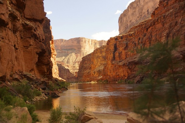 sunset in marble canyon during a rafting trip in grand canyon location 608x405