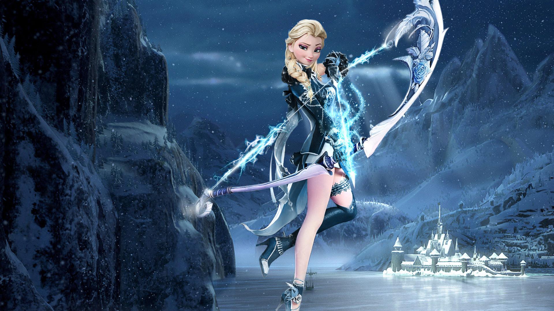 Kumpulan Gambar Kartun Elsa Bergerak