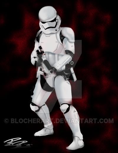 First Order Stormtrooper by blocherart 400x518