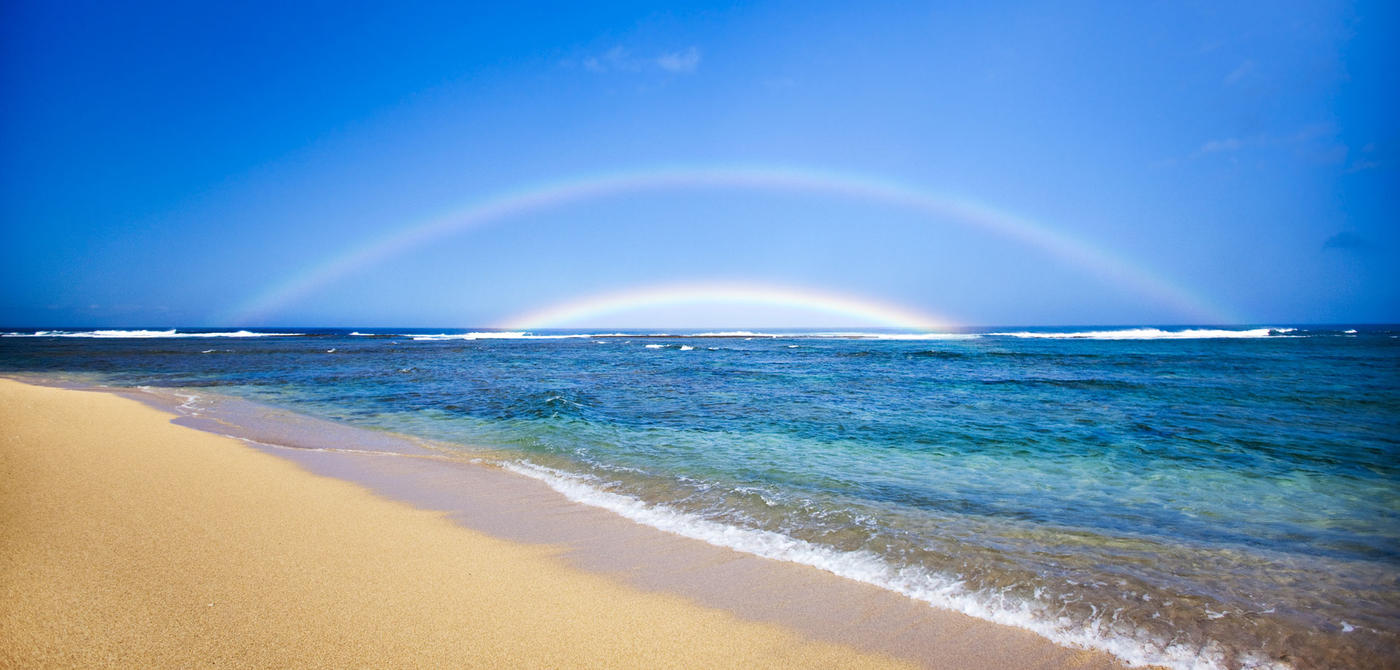 Rainbow Kauai Beach HD Wallpaper Nature Wallpapers 1400x670