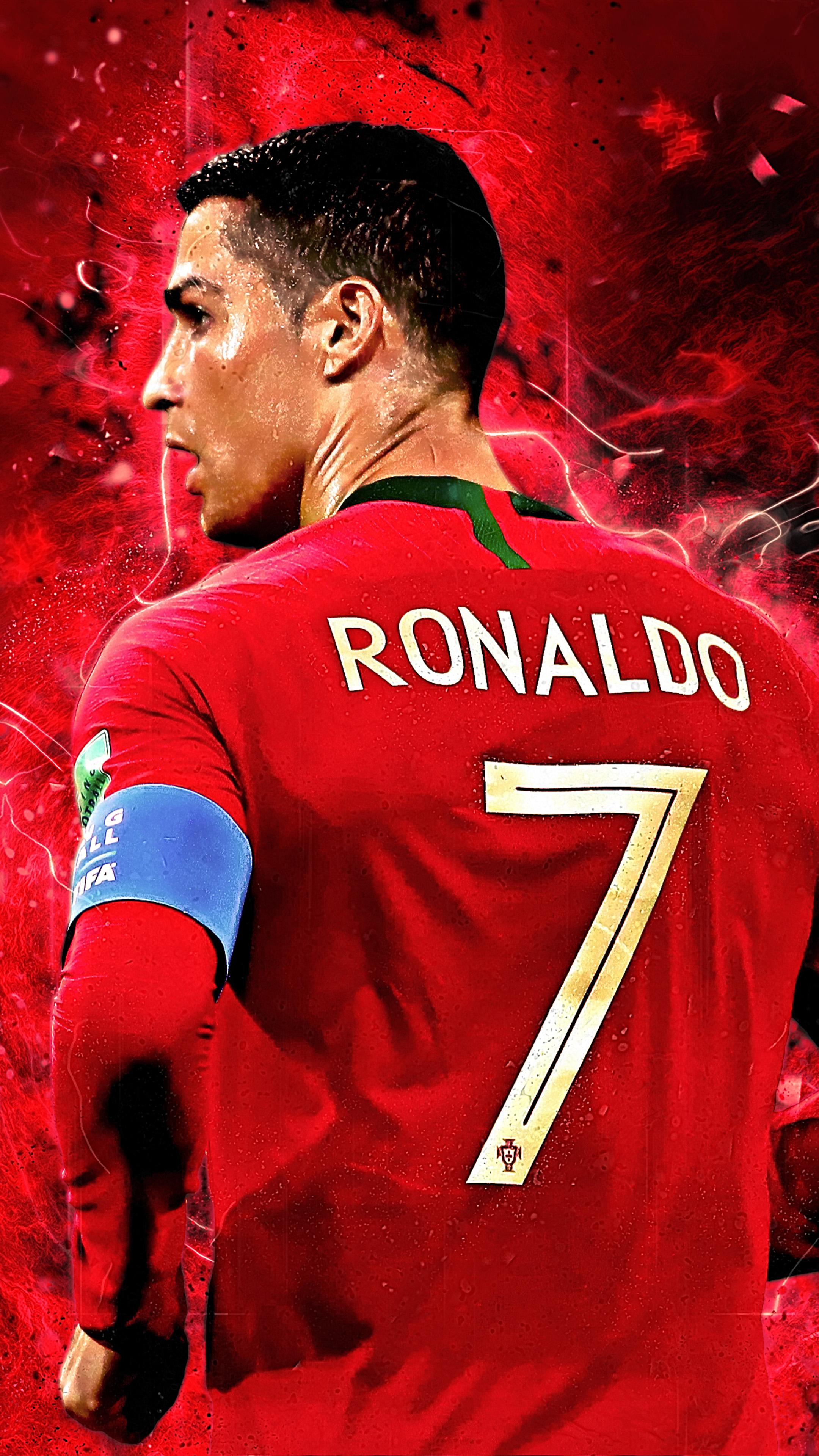 Cristiano Ronaldo Jersey Number 7 4K Ultra HD Mobile Wallpaper 2160x3840