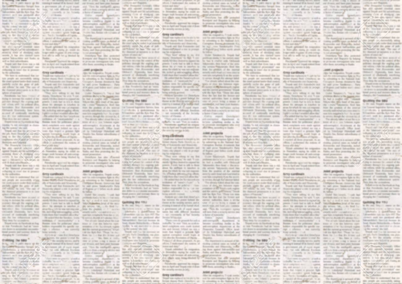 Old Newspaper Paper Texture Background Blurred Vintage Newspaper 1300x919