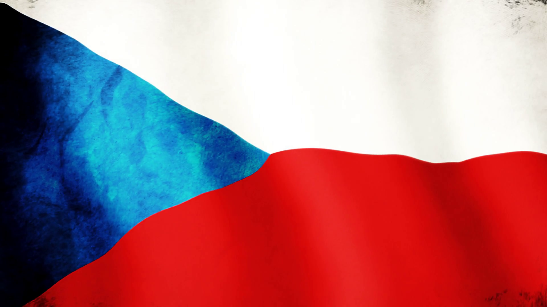 The Czech Republic Flag   Full HD 1920x1080   Shabby Motion 1920x1080