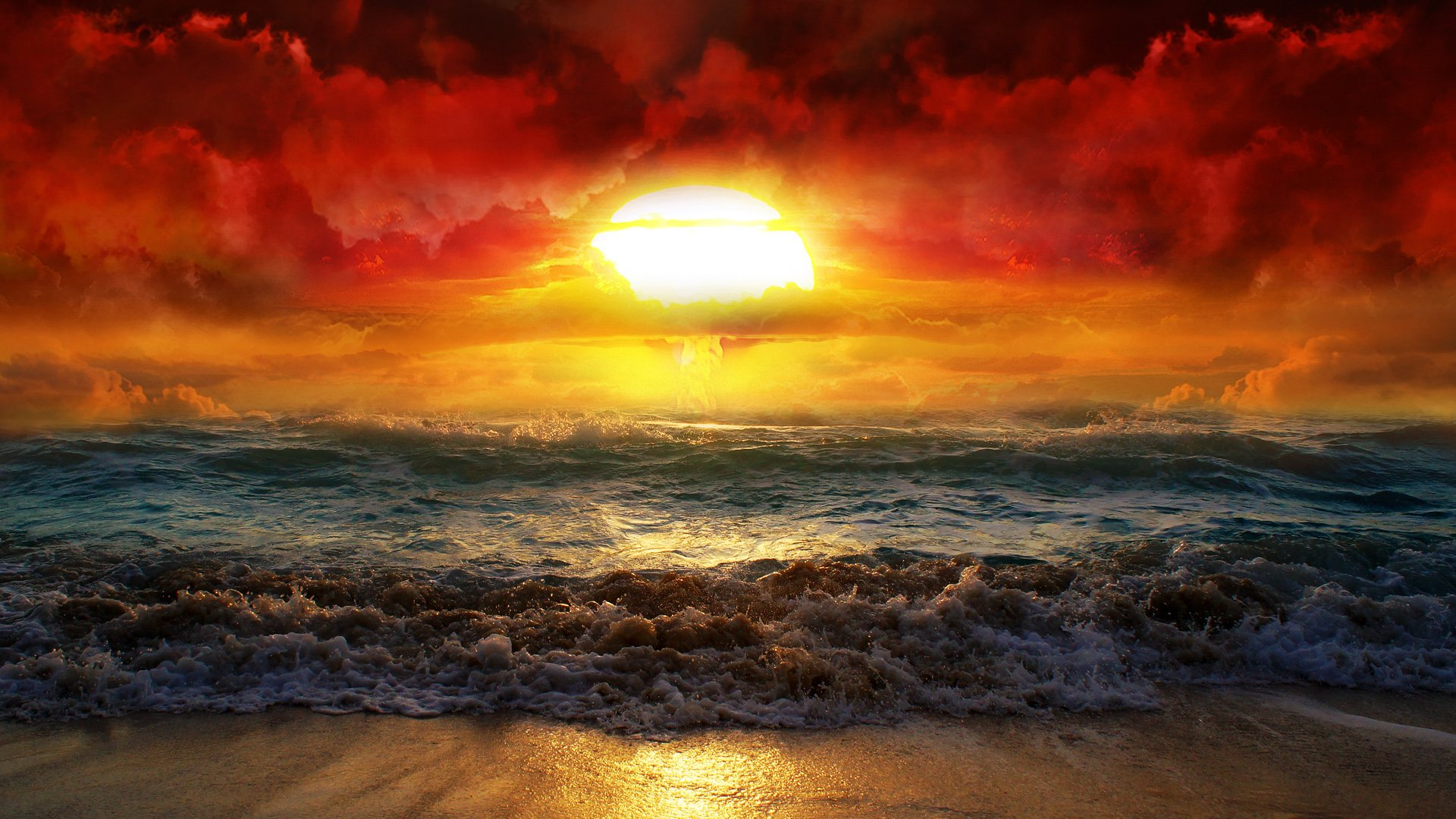 The Ocean Sunrise HD Wallpaper 1920x1080