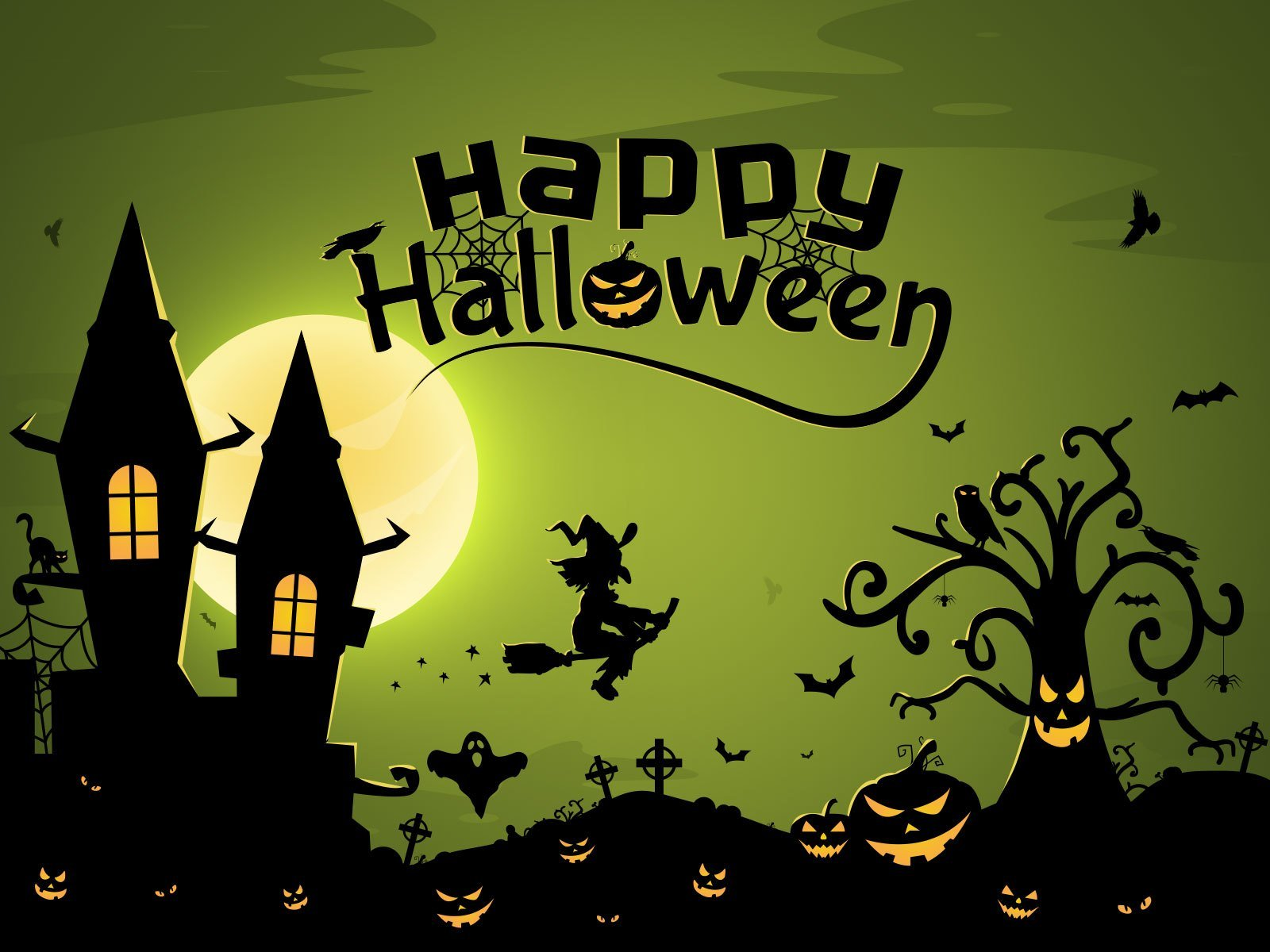 Happy Halloween Scary Night Pics Wallpapers  EntertainmentMesh 1600x1200