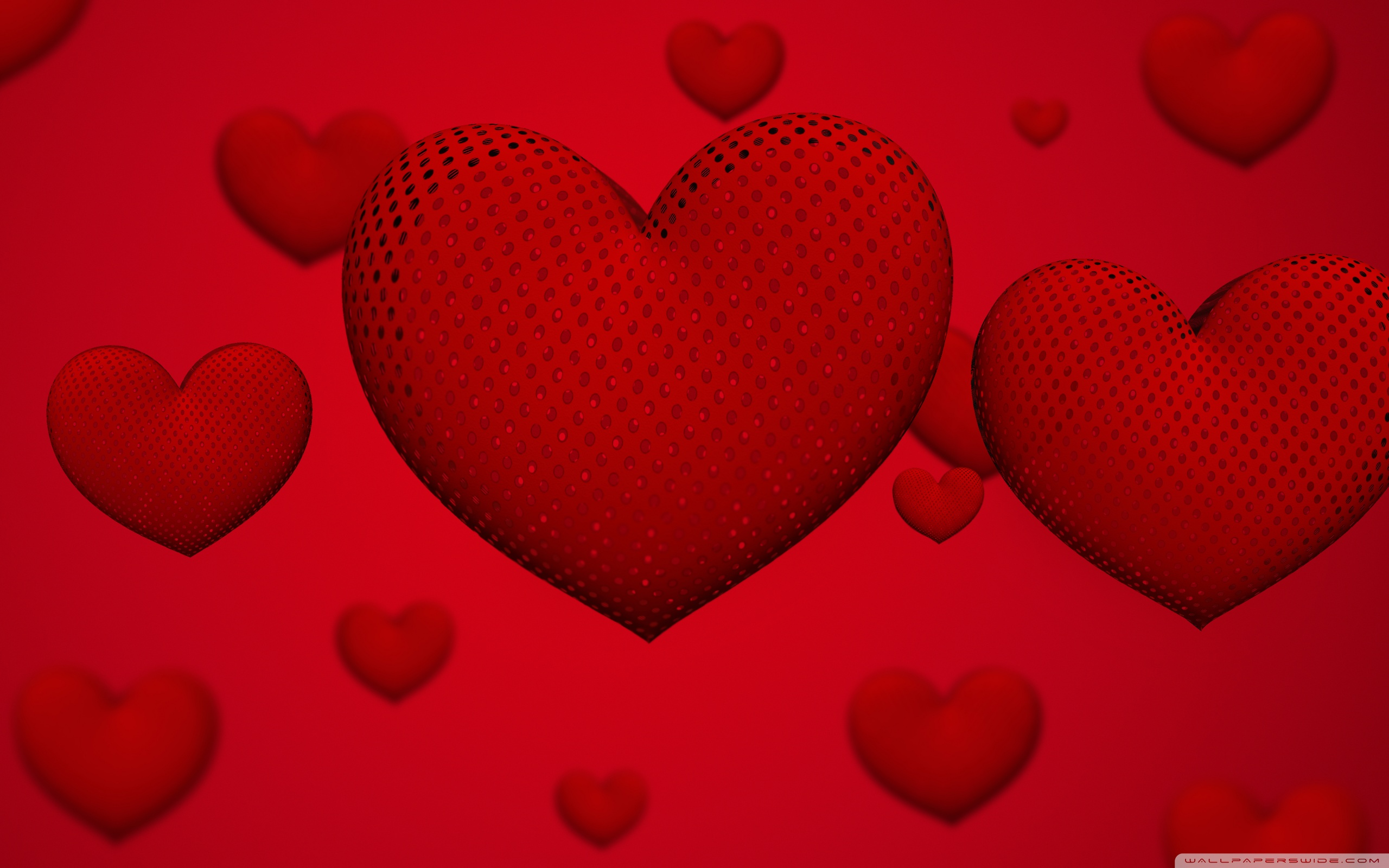 Valentines Day Hearts Ultra HD Desktop Background Wallpaper for 2560x1600