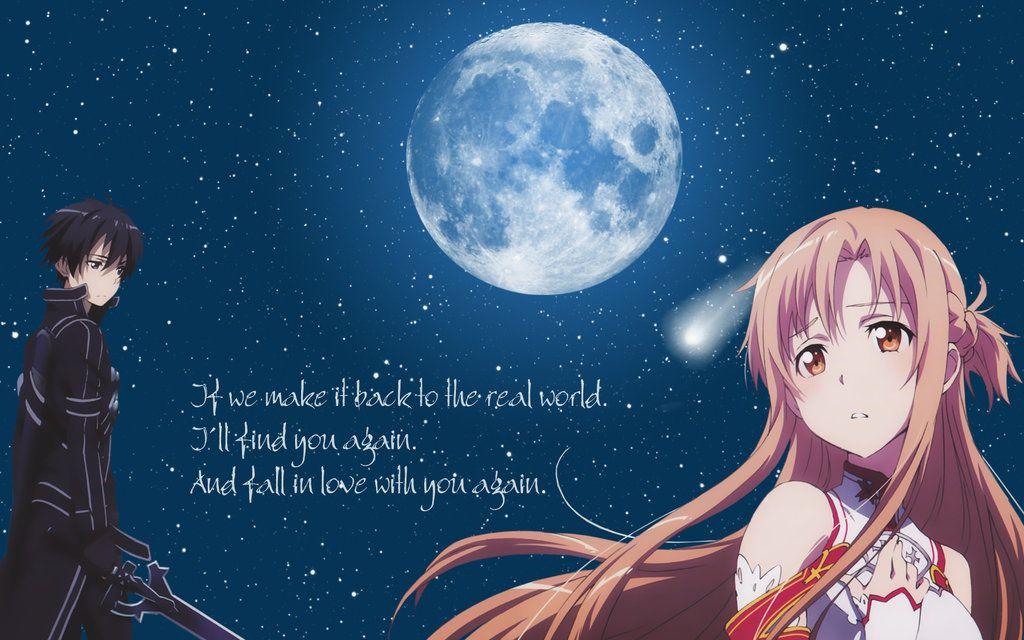 Sword Art Online Kirito Asuna Wallpaper by Yugoku chandeviantart 1024x640