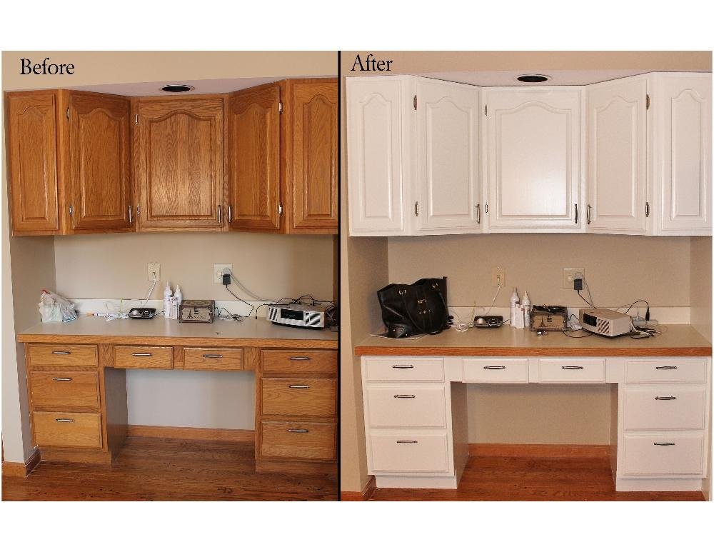 Wallpaper on laminate cabinets wallpapersafari for Before and after pictures of painted laminate kitchen cabinets