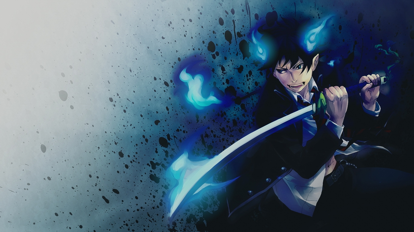 Blue exorcist wallpaper hd wallpapersafari - Blue anime wallpaper ...