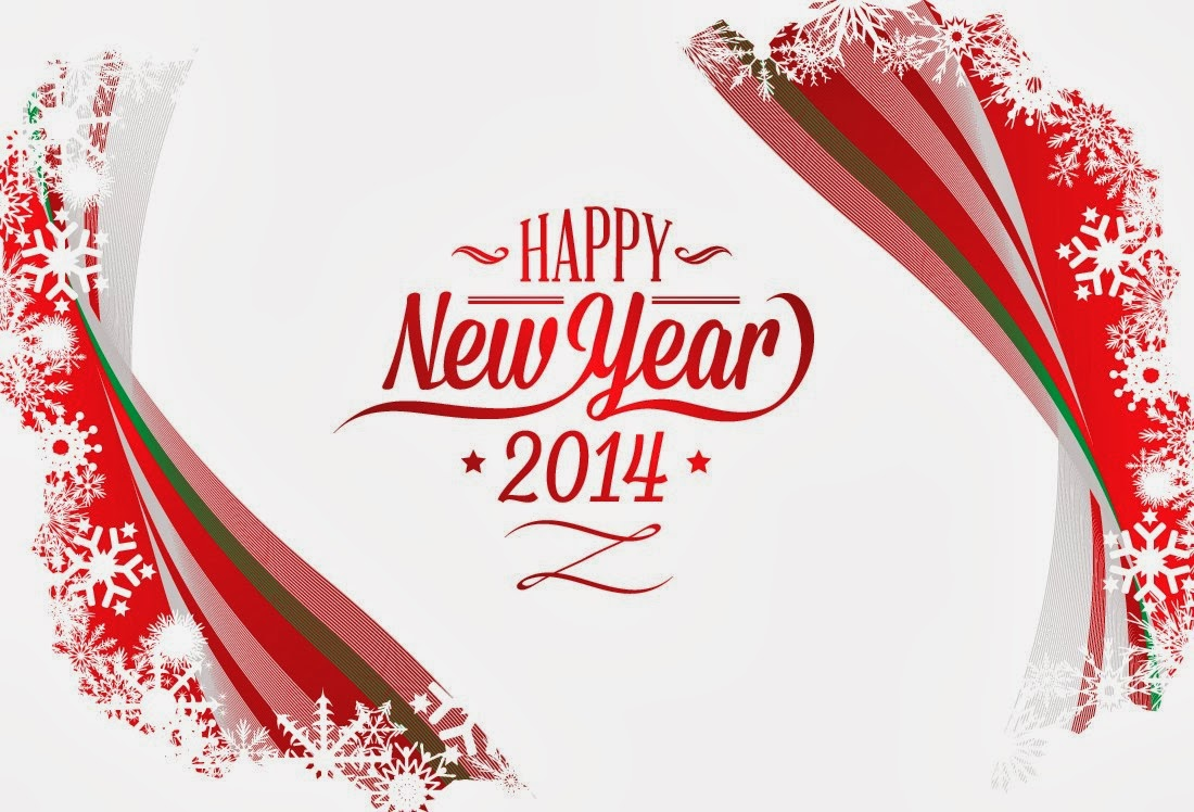 Free download New Year 2014 Wallpaper red text white