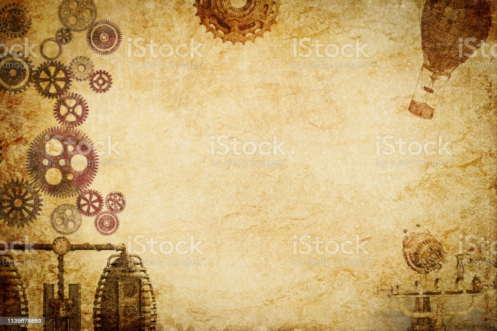 Steampunk Machine N Gears Paper Background Stock Photo   Download 1024x682