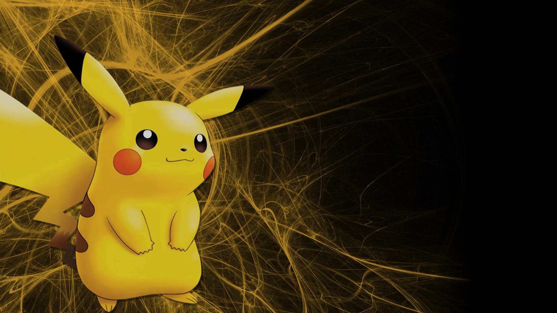 Pikachu Pikachu against a simple black background Keeping it classy 1920x1080