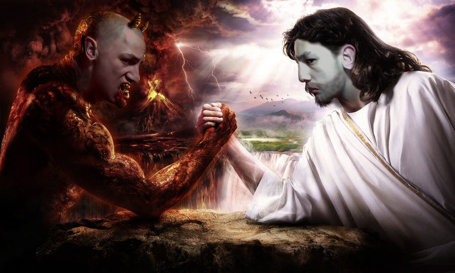 Satan Vs God Wallpaper Images & Pictures - Becuo