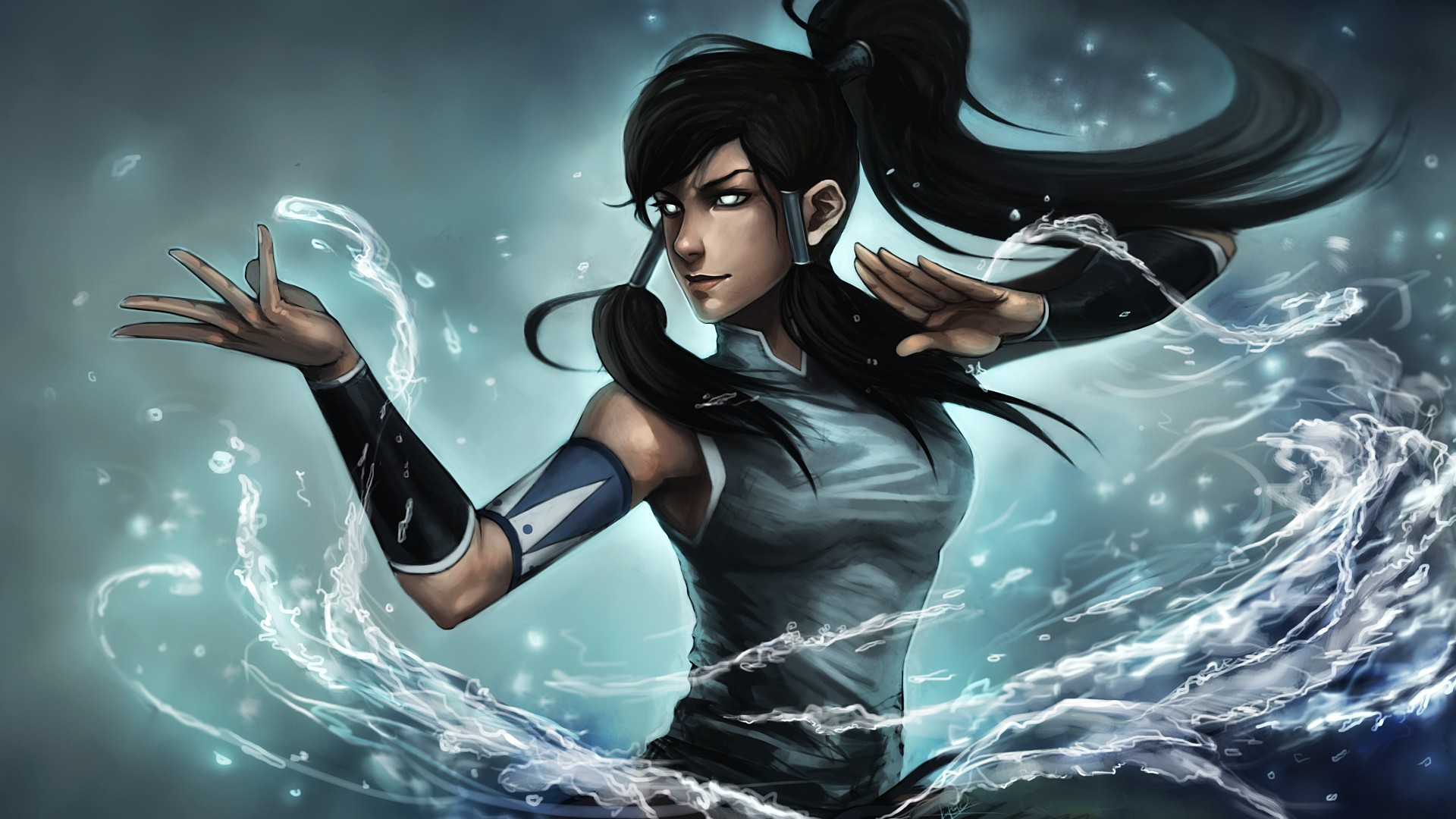 Avatar anime anime girls Waterbender korra Wallpapers 1920x1080