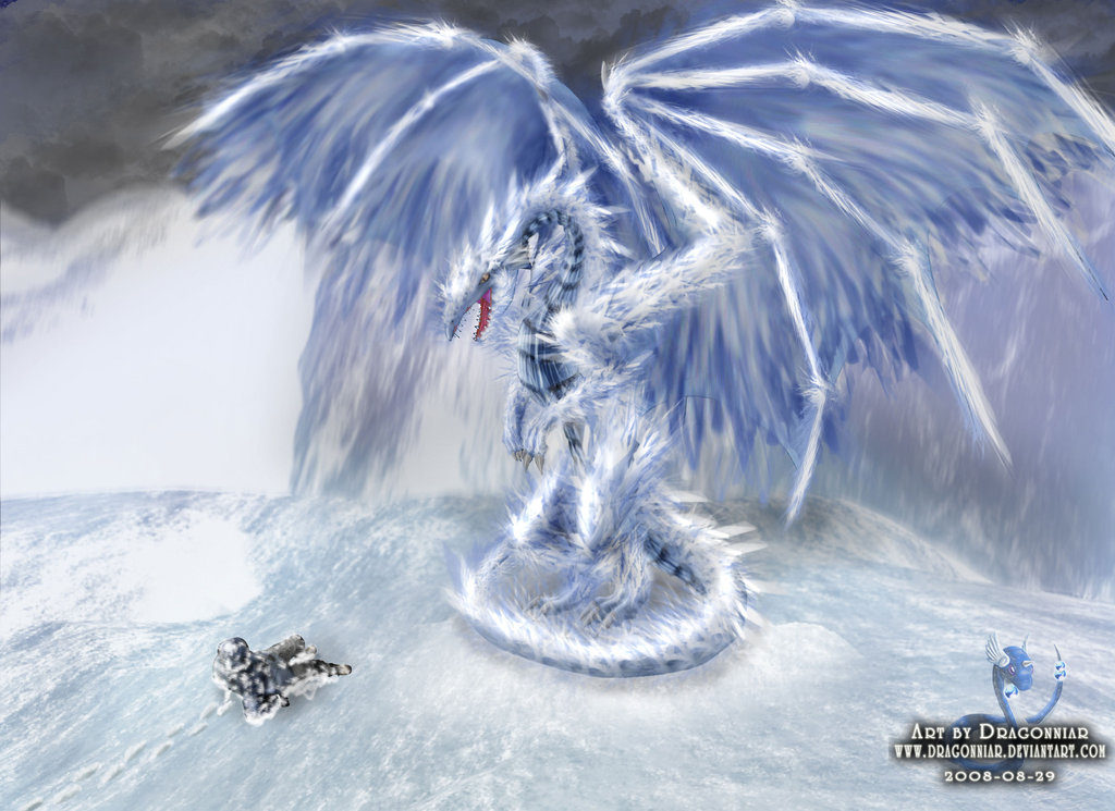 Free download Ice dragon by Dragonniar [1024x745] for your