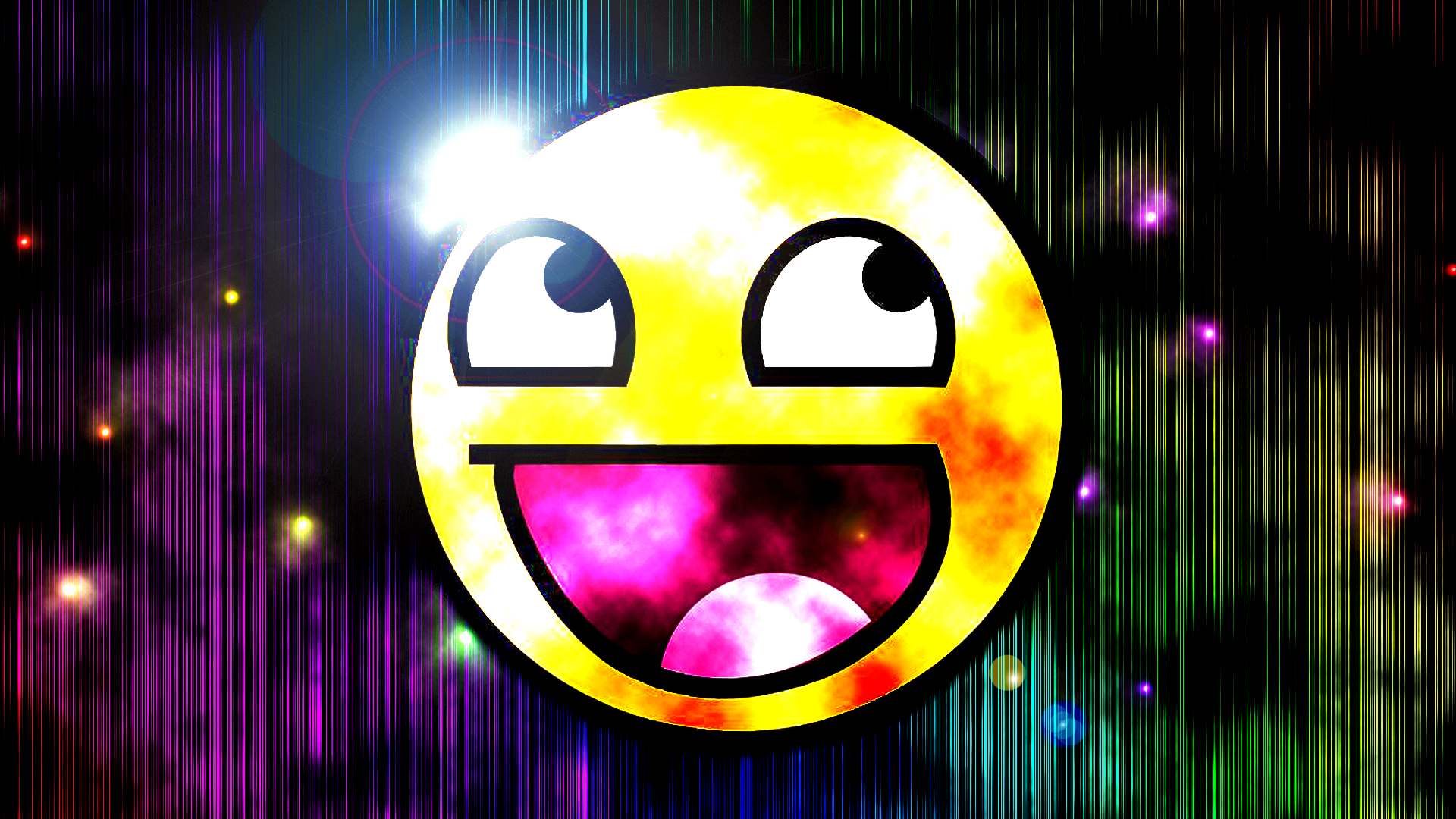 Awesome Smiley Face wallpaper   903497 1920x1080