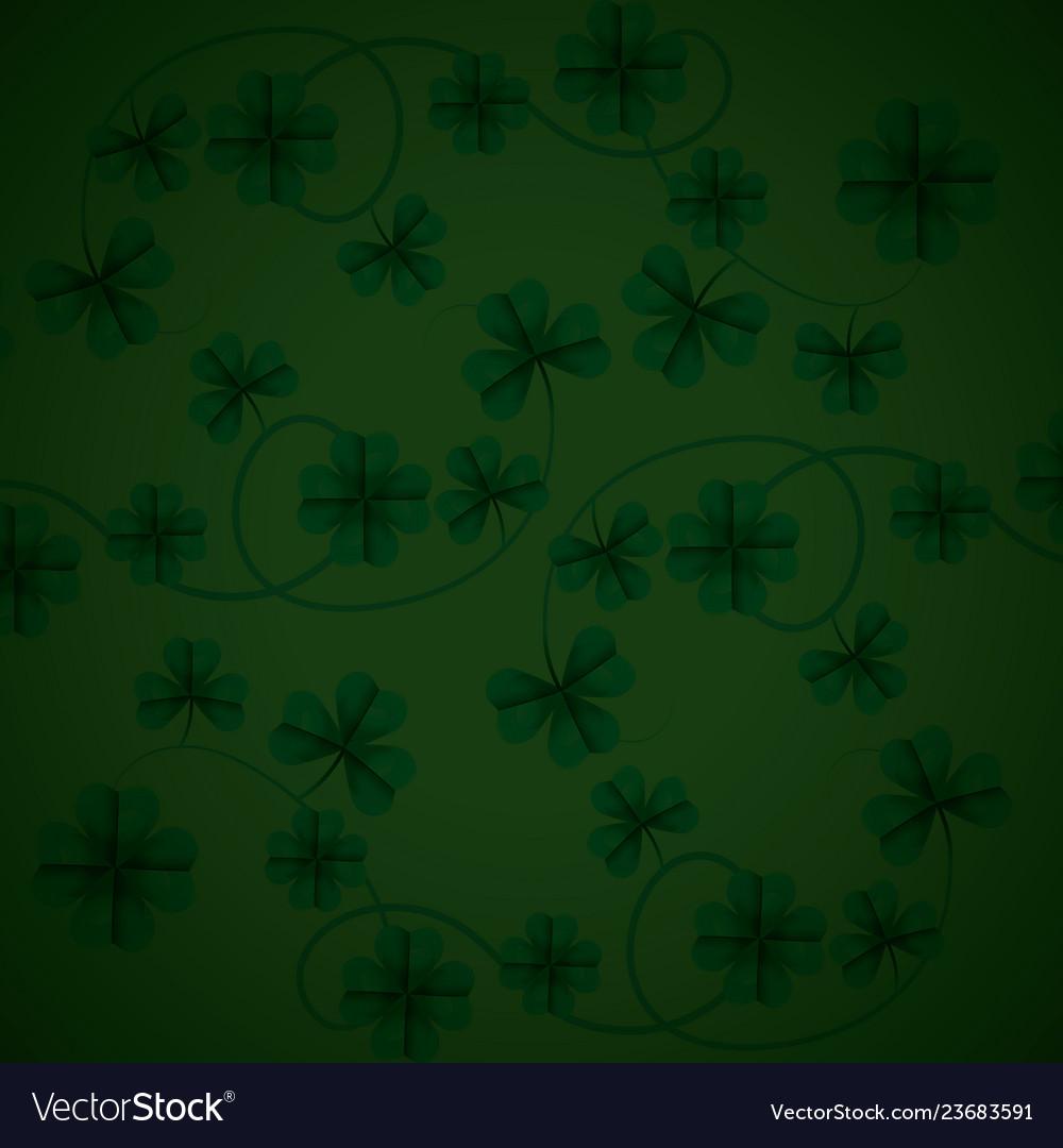 Background patron green irish Royalty Vector Image 1000x1080