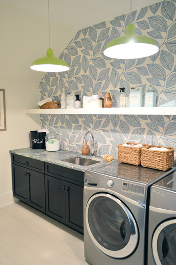 Laundry Room Decor Wallpaper Simplified