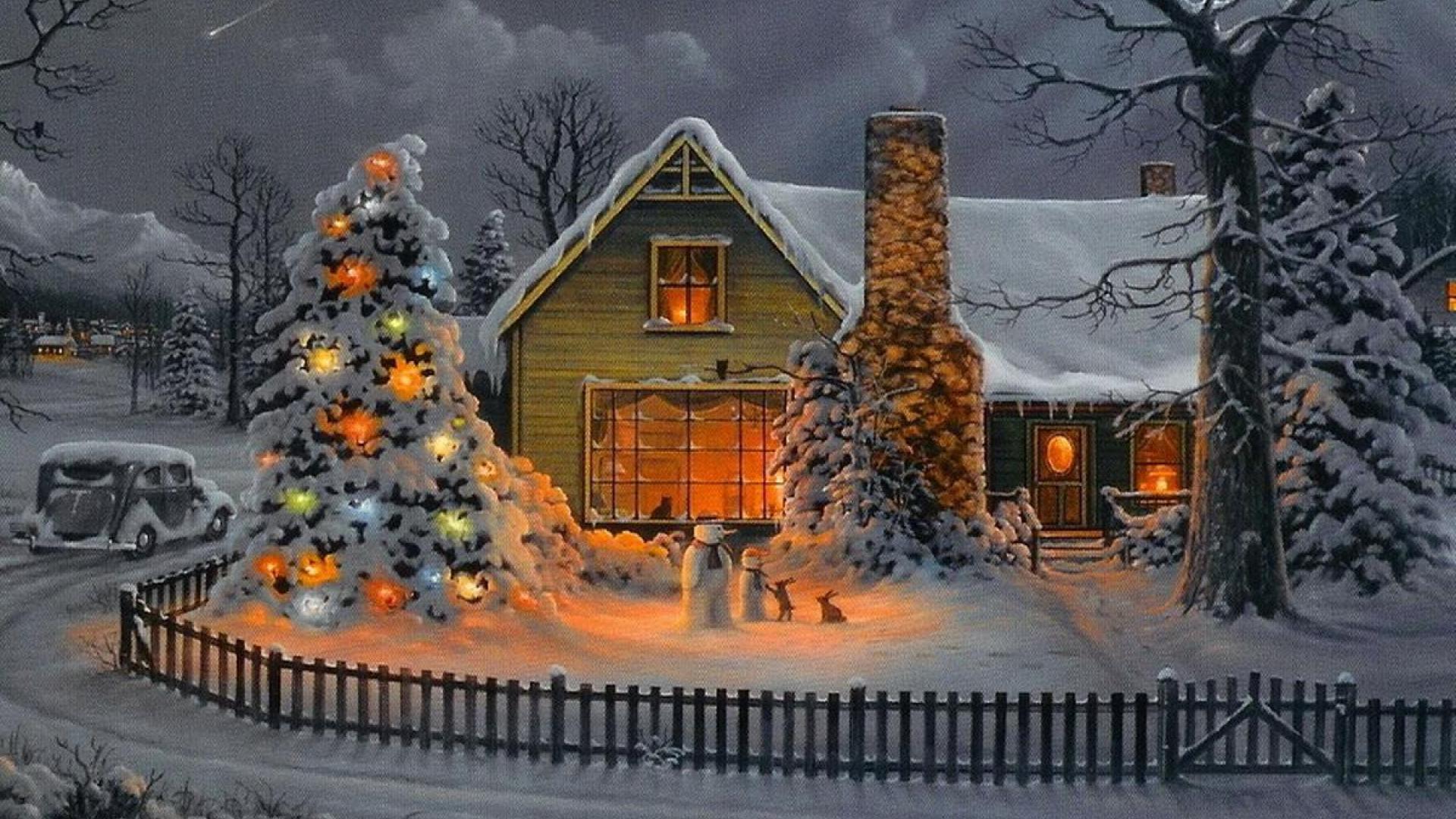 Christmas house wallpaper wallpapersafari