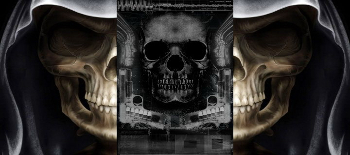 Skull Screensaver Wallpaper Pictures 720x320