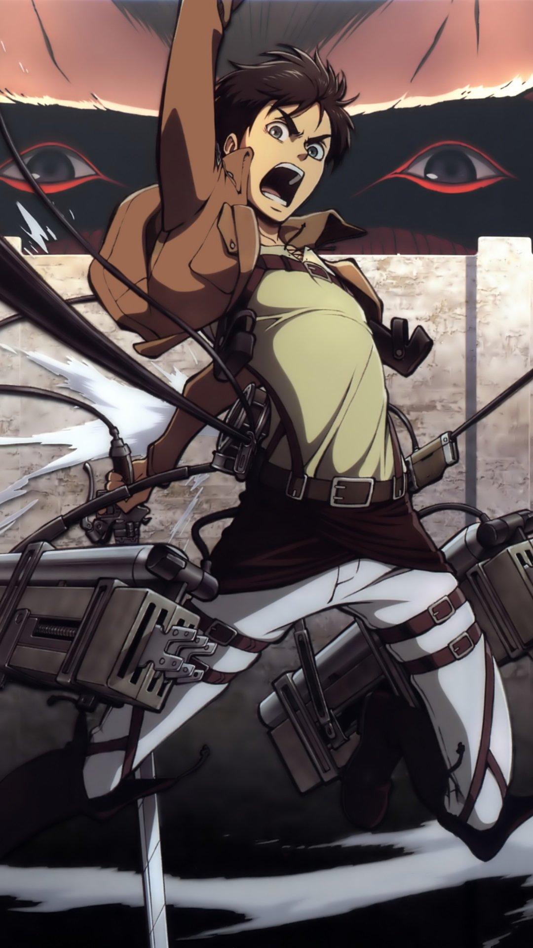 Attack On Titan Iphone Wallpaper Eren Shingeki no kyojineren jaeger 1080x1920