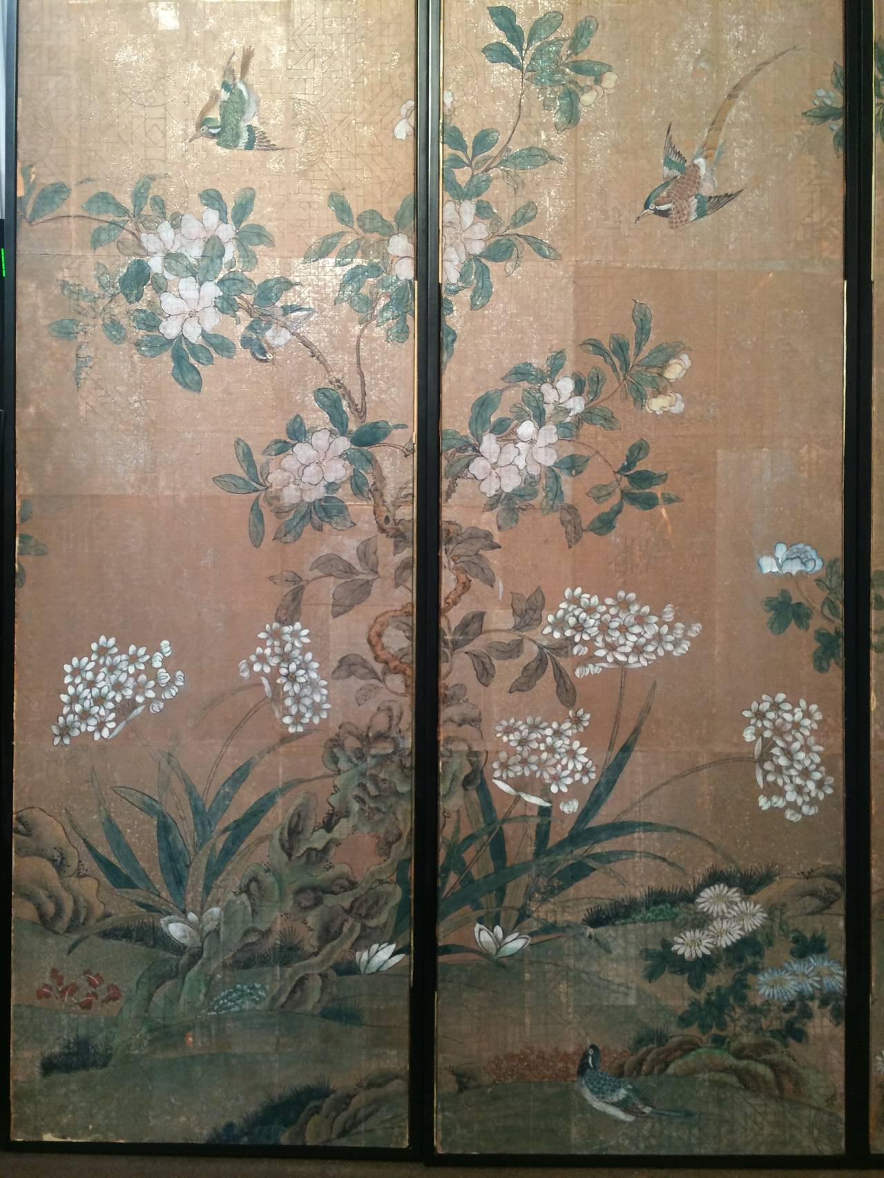 download Framed Vintage Gracie Chinoiserie Wallpaper Panels 1280x1706
