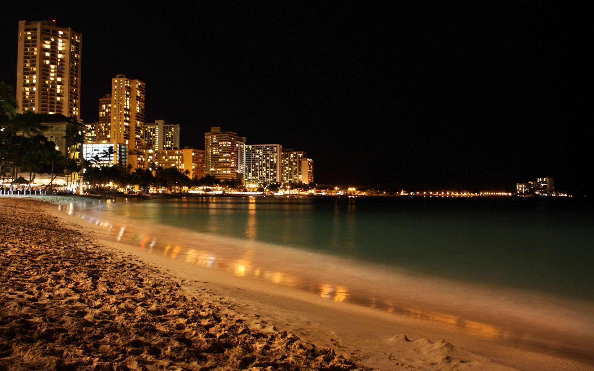 Beach At Night Wallpapers 1920x1200