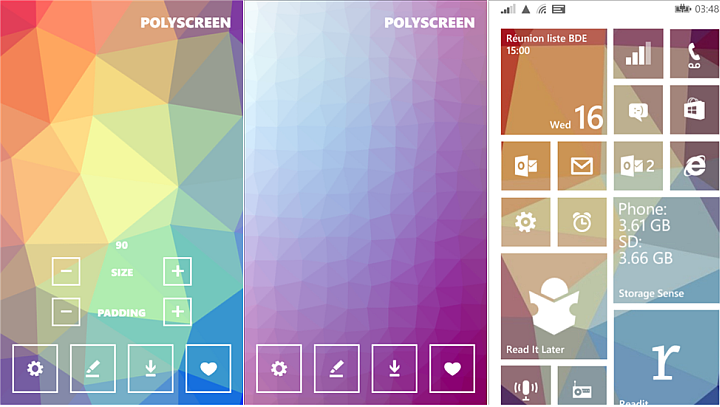 start screen backgrounds for Windows Phone 81 with PolyScreen 720x407