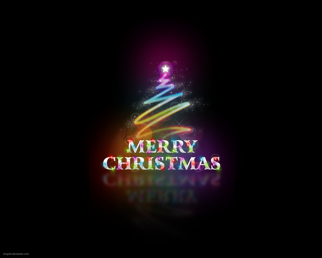 Merry Christmas Colors 1280x1024