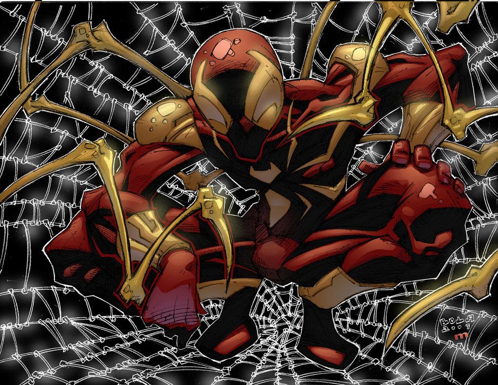 Iron spider wallpaper wallpapersafari - Iron man spiderman wallpaper ...